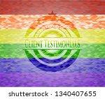 client testimonials emblem on... | Shutterstock .eps vector #1340407655