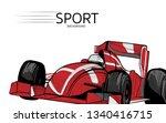 illustration of racing car.... | Shutterstock .eps vector #1340416715