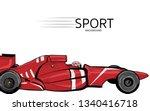 illustration of racing car.... | Shutterstock .eps vector #1340416718