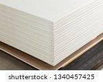 Stacking Of White Gypsum Panel...