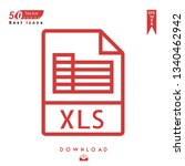 outline xls file type  icon...