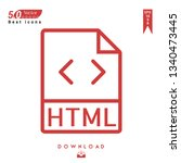 outline html file type icon...