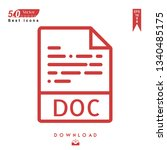 outline doc file type icon...