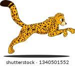 cartoon cheetah with spots on... | Shutterstock .eps vector #1340501552