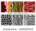 6 animal skin seamless patterns.... | Shutterstock .eps vector #1340504765