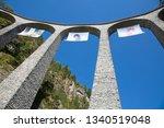 famous landwasser viaduct...   Shutterstock . vector #1340519048