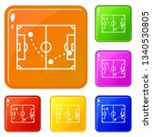 football strategy icons set...   Shutterstock .eps vector #1340530805