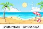 sea or ocean landscape  sea... | Shutterstock .eps vector #1340554865