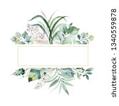 watercolor green illustration... | Shutterstock . vector #1340559878