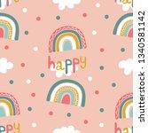 seamless pattern of stylized... | Shutterstock .eps vector #1340581142
