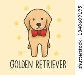 Cute Golden Retriever Cartoon...