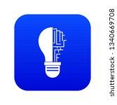 circuit board inside light bulb ...   Shutterstock . vector #1340669708