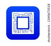 microchip icon digital blue for ...   Shutterstock . vector #1340673518