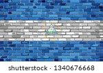 flag of nicaragua on a brick...   Shutterstock .eps vector #1340676668