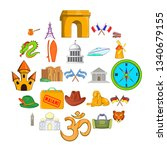 excursion trip icons set.... | Shutterstock . vector #1340679155