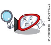 detective side mirror in the...   Shutterstock .eps vector #1340694128