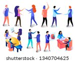 successful business characters... | Shutterstock .eps vector #1340704625