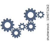 abstract gear wheels. vector... | Shutterstock .eps vector #134071262