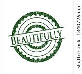 green beautifully distress...   Shutterstock .eps vector #1340726555