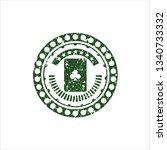 green ace of clover icon inside ...   Shutterstock .eps vector #1340733332