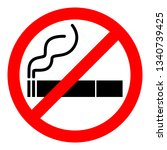 no smoking sign. red... | Shutterstock .eps vector #1340739425
