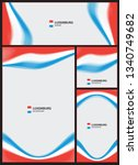 abstract wave lines pattern set ... | Shutterstock .eps vector #1340749682