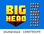 comics style font design ... | Shutterstock .eps vector #1340750195
