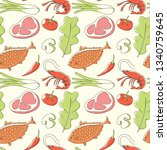 food seamless pattern  vector | Shutterstock .eps vector #1340759645