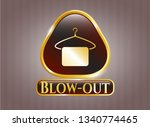 shiny badge with hanger with... | Shutterstock .eps vector #1340774465