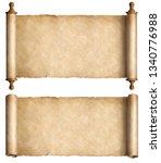 vintage paper scrolls set... | Shutterstock . vector #1340776988