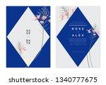 minimalist botanical wedding... | Shutterstock .eps vector #1340777675