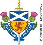 scotland forever   symbol of... | Shutterstock .eps vector #1340794922