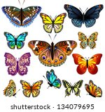 set of colorful realistic... | Shutterstock .eps vector #134079695