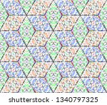colorful seamless rhombus... | Shutterstock . vector #1340797325