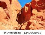 famous antelope canyon near...   Shutterstock . vector #1340800988