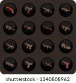 hand weapons color vector icons ... | Shutterstock .eps vector #1340808962