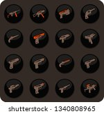 hand weapons color vector icons ... | Shutterstock .eps vector #1340808965