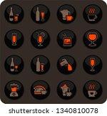 utensils for the preparation of ... | Shutterstock .eps vector #1340810078