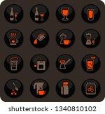 utensils for the preparation of ... | Shutterstock .eps vector #1340810102