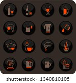 utensils for the preparation of ... | Shutterstock .eps vector #1340810105