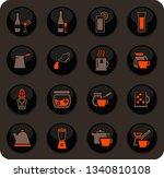 utensils for the preparation of ... | Shutterstock .eps vector #1340810108