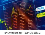 world economics graph. finance... | Shutterstock . vector #134081012