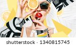 composition of women  in... | Shutterstock . vector #1340815745