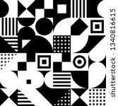 black and white squares ... | Shutterstock .eps vector #1340816615
