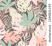 abstract summer bright floral... | Shutterstock .eps vector #1340831195