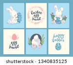 vector collection of easter... | Shutterstock .eps vector #1340835125