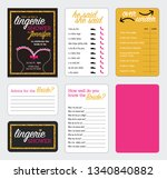 pink  gold  and black bridal or ... | Shutterstock .eps vector #1340840882