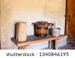 the interior of an old rural... | Shutterstock . vector #1340846195