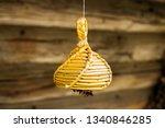 old country toy made of straw.... | Shutterstock . vector #1340846285