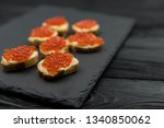 sandwich from white baguette... | Shutterstock . vector #1340850062